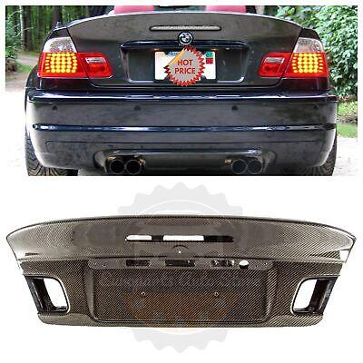 BMW E46 M3 CSL STYLE CARBON FIBER TRUNK LID FOR E46 CONVERTIBLE 00-06 325 330 M3 Complete Replacement Carbon Fiber