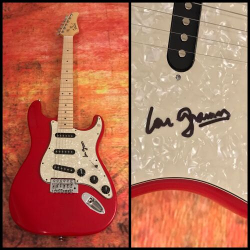 GFA Foreigner Band Ready or Not * LOU GRAMM * Signed Red Electric Guitar COA
