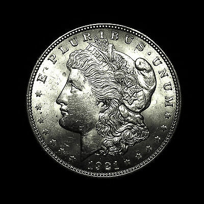 1921 ~**ALMOST UNCIRCULATED AU**~ Silver Morgan Dollar Rare US Antique Coin!