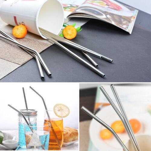 Reusable Steel Straws For oz + Brush