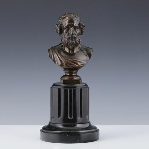D. Marie (1761-1863) Bust Homer Bronze Ilias Antique Odyssey Greece