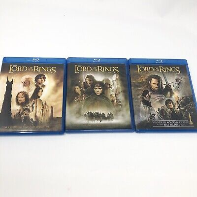 The Lord of the Rings LOTR Trilogy Blu-ray Lot 6 Disc Set Theatrical