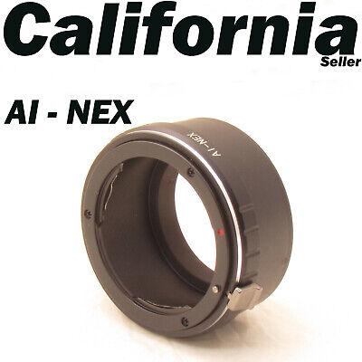 Nikon AI Lens Ai-s SONY NEX-3 NEX-5 NEX-C3 NEX-VG10 NEX-5R NEX-6 Adapter E Mount