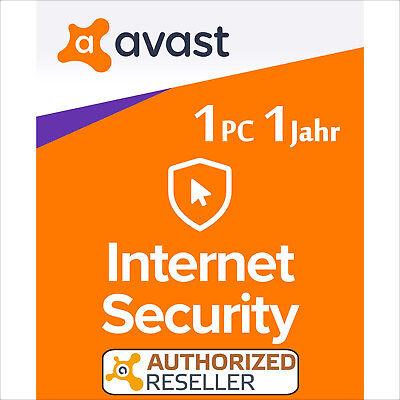 AVAST Internet Security 1 PC 1 Jahr 2020 Vollversion/Upgrade Antivirus Premium