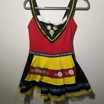 Seven til Midnight Swedish Sweetie Dress Costume One Piece Small