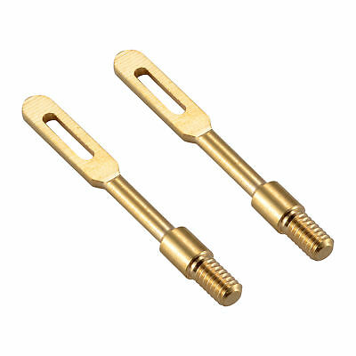 Brass Slotted Tips (2 Pcs/Lots .22 Cal Solid Brass Slotted Tips Gun Clean Patch Puller Patch)