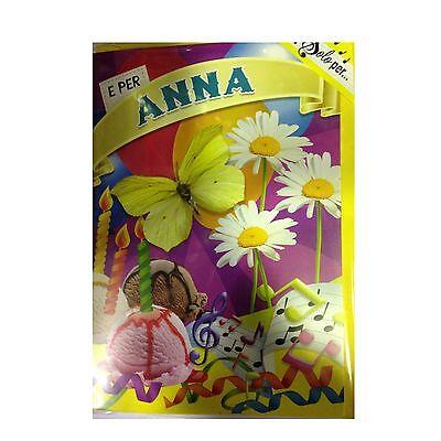 Geburtstag Singt (Karte Musical Geburtstag Generika singt Nome Anna e viele Grüße für Sie)