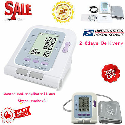 Digital Lcd Upper Arm Blood Pressure Monitor Heart Beat Meter Machine Us Seller