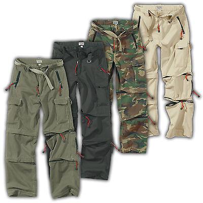 SURPLUS CARGO TREKKING HOSE Zipp Off Pants Function lange + kurze Hose in einem