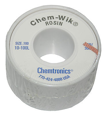 Chemtronics 10-100l 100 Solder Wic Wick Braid For Solder Removal From Circuits