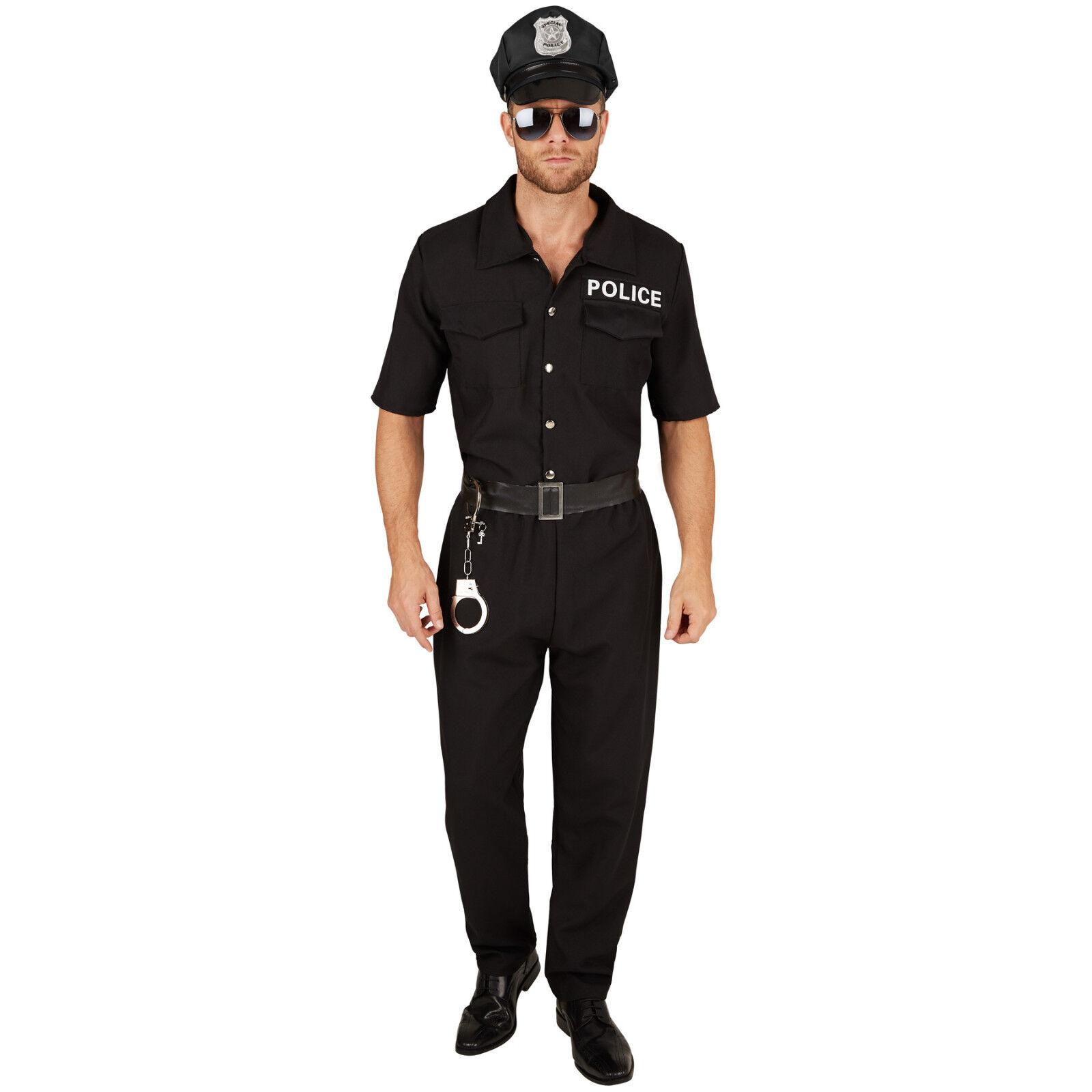 Herrenkostüm Polizist Cop Uniform sexy Polizeikostüm Streifenpolizist Fasching