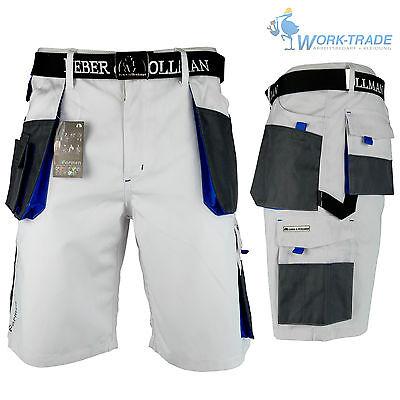 Arbeitshose Kurze Hose Kurz Bermuda Shorts Malerhose Weiß Hellblau Gr. S - XXXL