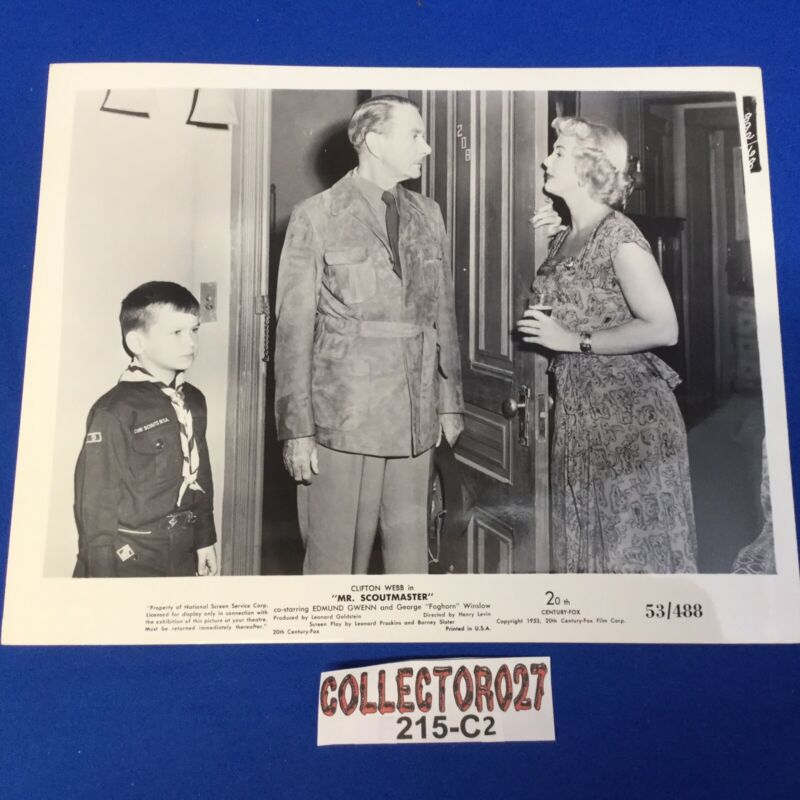 Boy Scout Movie Promo Photo Mr. Scoutmaster Clifton Webb 53/488 At Door