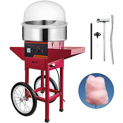 Cotton Candy Machine Cart Cover Stainless Steel Store Floss Maker Red Cover