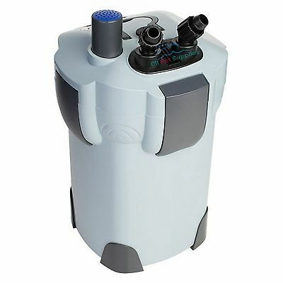 3-STAGE AQUARIUM CANISTER FILTER + 9W UV STERILIZER 265 GPH FRESH/SALT 75 Gallon