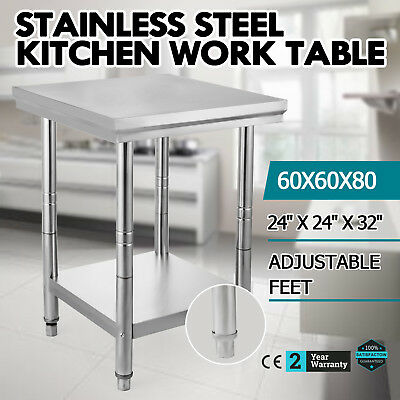24x36 Stainless Steel Kitchen Work Table Commercial Kitchen Restaurant Table