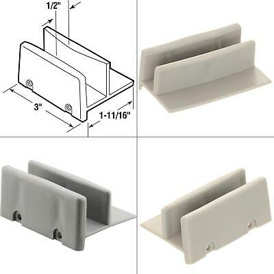 Sliding Shower Door Bottom Guide 12 In. Channel Plastic Construction Gray