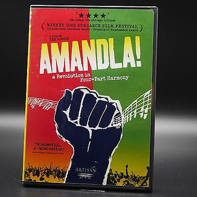 AMANDLA! A Revolution in Four-Part Harmony (DVD, 2003) South Africa,