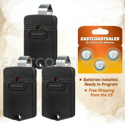 3 For GTO Mighty Mule Gate Opener Remote Control Transmitter RB741 FM135 PRO