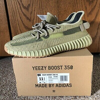 Adidas Yeezy Boost 350 V2 SULFUR FY5346 size 11.5 AUTHENTIC