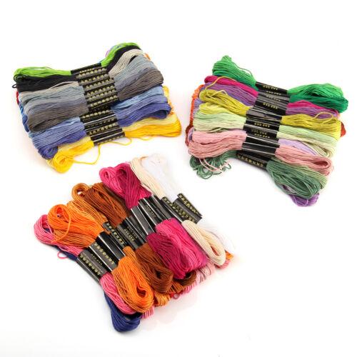 100x Cotton SKEINS COLOURED EMBROIDERY THREAD Cross Stitch