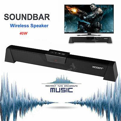 40W Barra de sonido TV Altavoz inalámbrico HD Bass estéreo Sonido Bluetooth