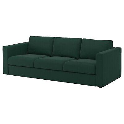 Ikea cover set for Vimle 3-Seater Sofa in Gunnared Dark Green