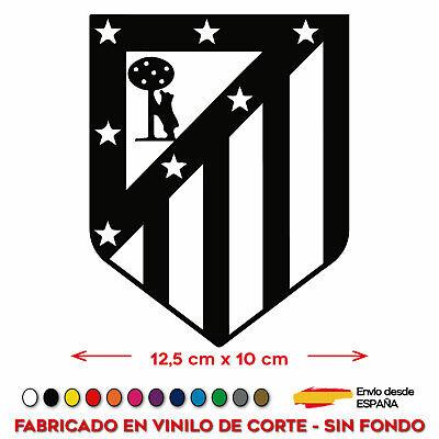 ESCUDO ATLÉTICO DE MADRID FÚTBOL VINILO STICKER PEGATINA ADHESIVO VINILO COCHE