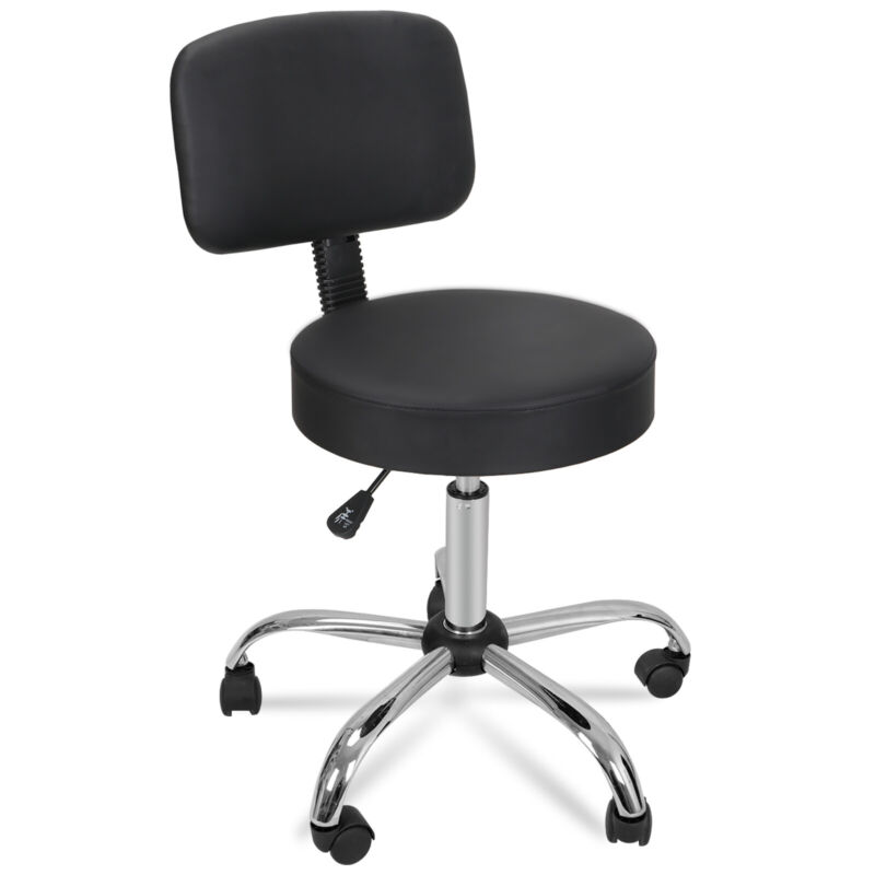 Adjustable Spa Salon Stool Chair + Drafting Table Craft Station w/Glass Top