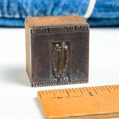 Public Employment Service Sm 1x 1 Vintage Letterpress Printers Block