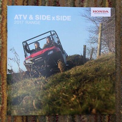 HONDA - ATV & Side x Side UK Sales Brochure 2017