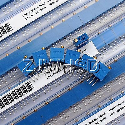 100 - 500k 60pcs 12value 3296 W Potentiometer Assorted Kit Variable Resistor