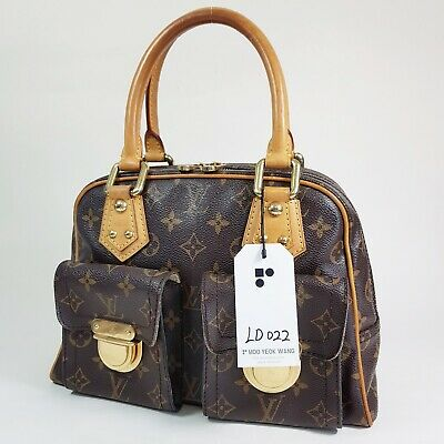 Auth Louis Vuitton Manhattan PM Monogram M40026 Structured Guaranteed Bag LD022