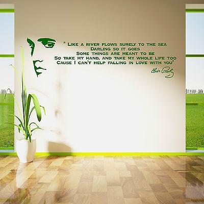 ELVIS PRESLEY SONG LYRICS LIKE A RIVER Vinyl Wall Art Sticker room decal Quote