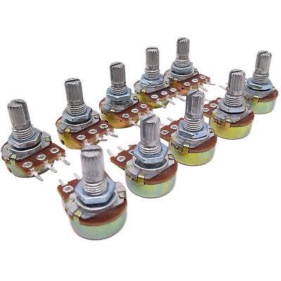 Us Stock 10pcs 100k Ohm Linear Taper Rotary Potentiometer Panel Pot B100k 20mm