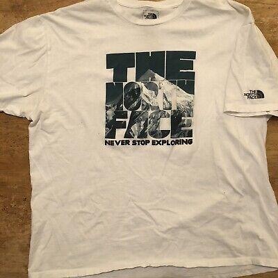 North Face Short Sleeve T Shirt Men's XXL White