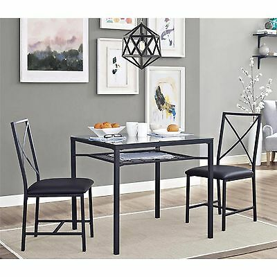 Dining Table Set for 2 Chairs 3 Piece Kitchen Room Furniture Dinette and NEW