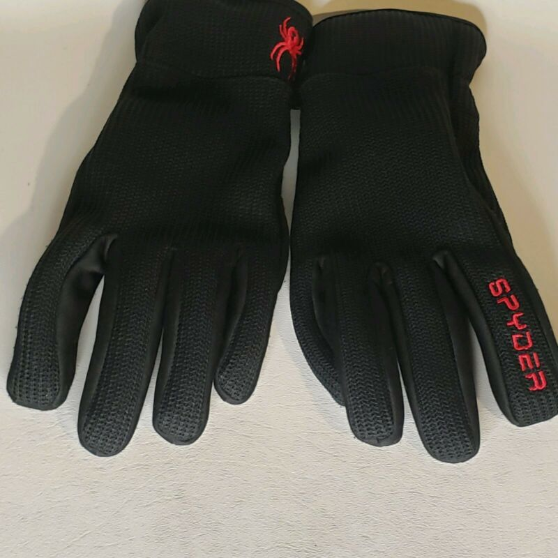 Spyder Core Conduct Gloves Black, Kids Touch Screen Compatible M