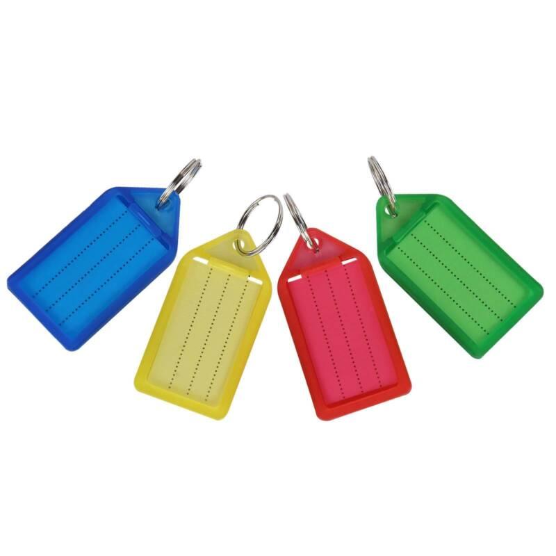 30pcs Schlüsselanhänger zum Beschriften Schlüsselschilder Anhänger Etiketten