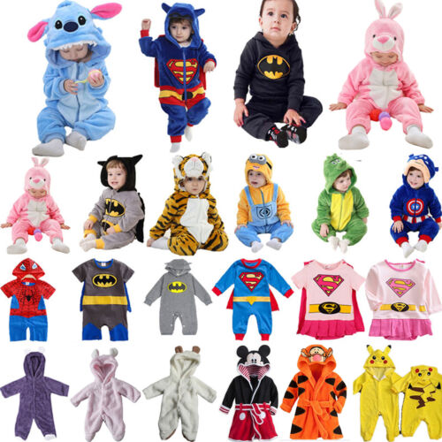 Baby Kinder Kapuze Strampler Overall Jumpsuit Rompers Kigurumi Tier Body Outfit