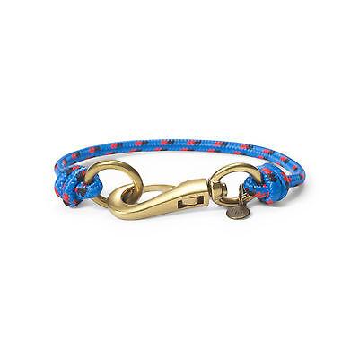 NWT Men's Polo Ralph Lauren Nylon Wrist Strap Bracelet Royal Blue Lobster Clasp