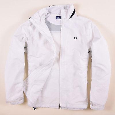 Fred Perry Herren Jacke Jacket Gr.XL Windjacke Trainingsjacke Weiß, 56742