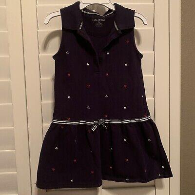 Nautica Kids Girl 5t Navy Blue Dress