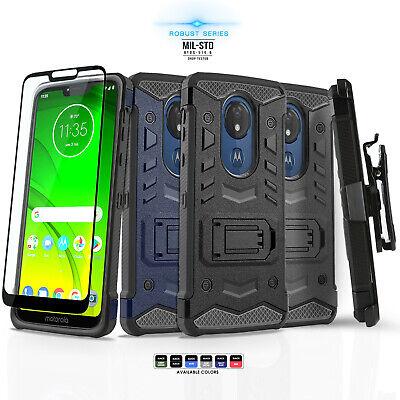 for MOTOROLA MOTO G7 POWER / G7 SUPRA [Robust Series] Phone Case Cover & Holster ()