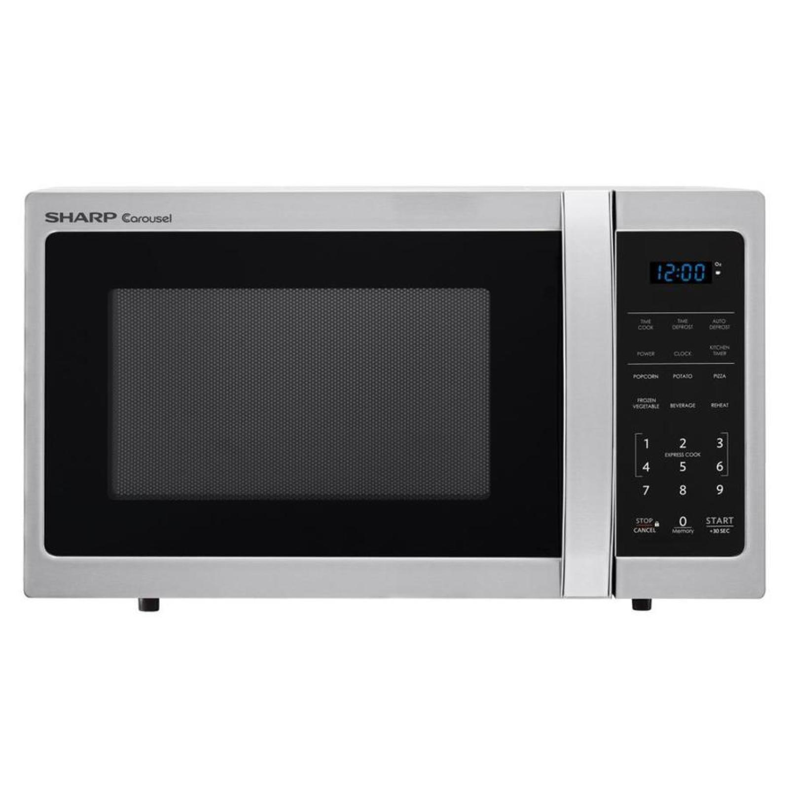 Sharp Electric Compact Countertop Microwave Stainless Steel