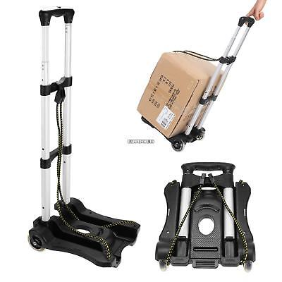Cart Folding Dolly Hand Truck Push Collapsible Aluminium Trolley Luggage 150 Lbs