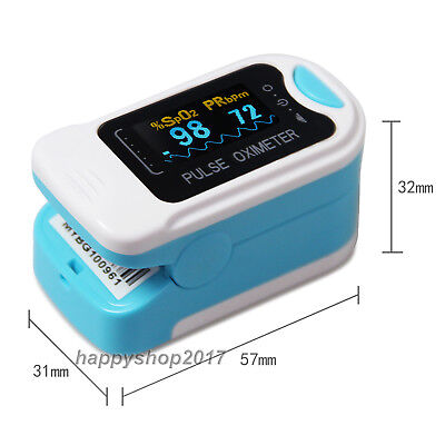 Oled Pulse Oximeter Fingertip Spo2 Blood Oxygen Saturation Heart Rate Monitor Us