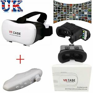 3D Virtual Reality VR BOX VR Case Glasses Headset With Bluetooth Remote Control