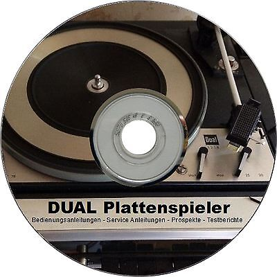DUAL Plattenspieler Bedienungsanleitung Service Anleitung Manual Prospekt DVD
