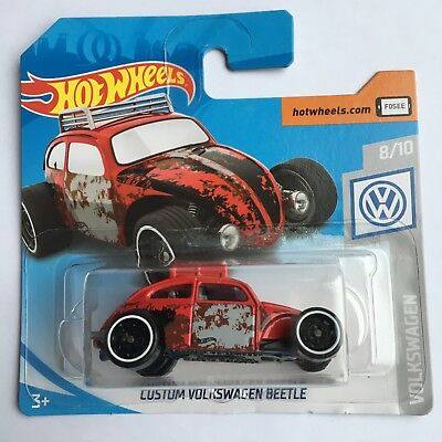 Hot Wheels 2019 VW Custom Volkswagen Beetle Car On Short Card